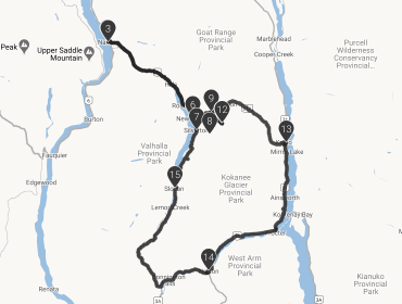 Silvery Slocan Directions