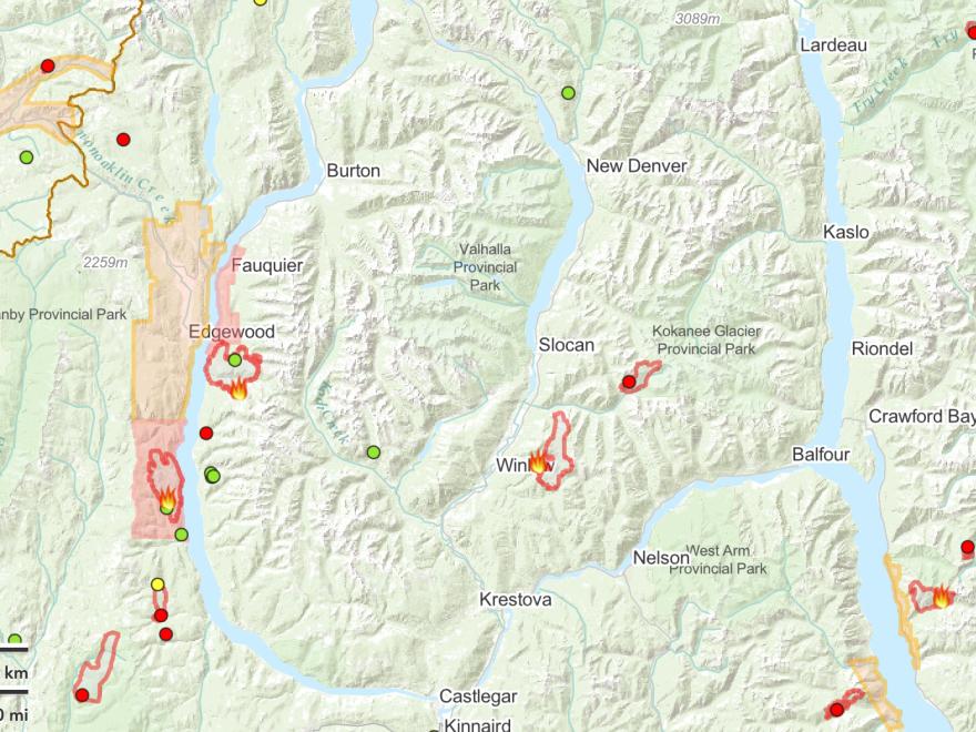 Update: Arrow Slocan Wildfires